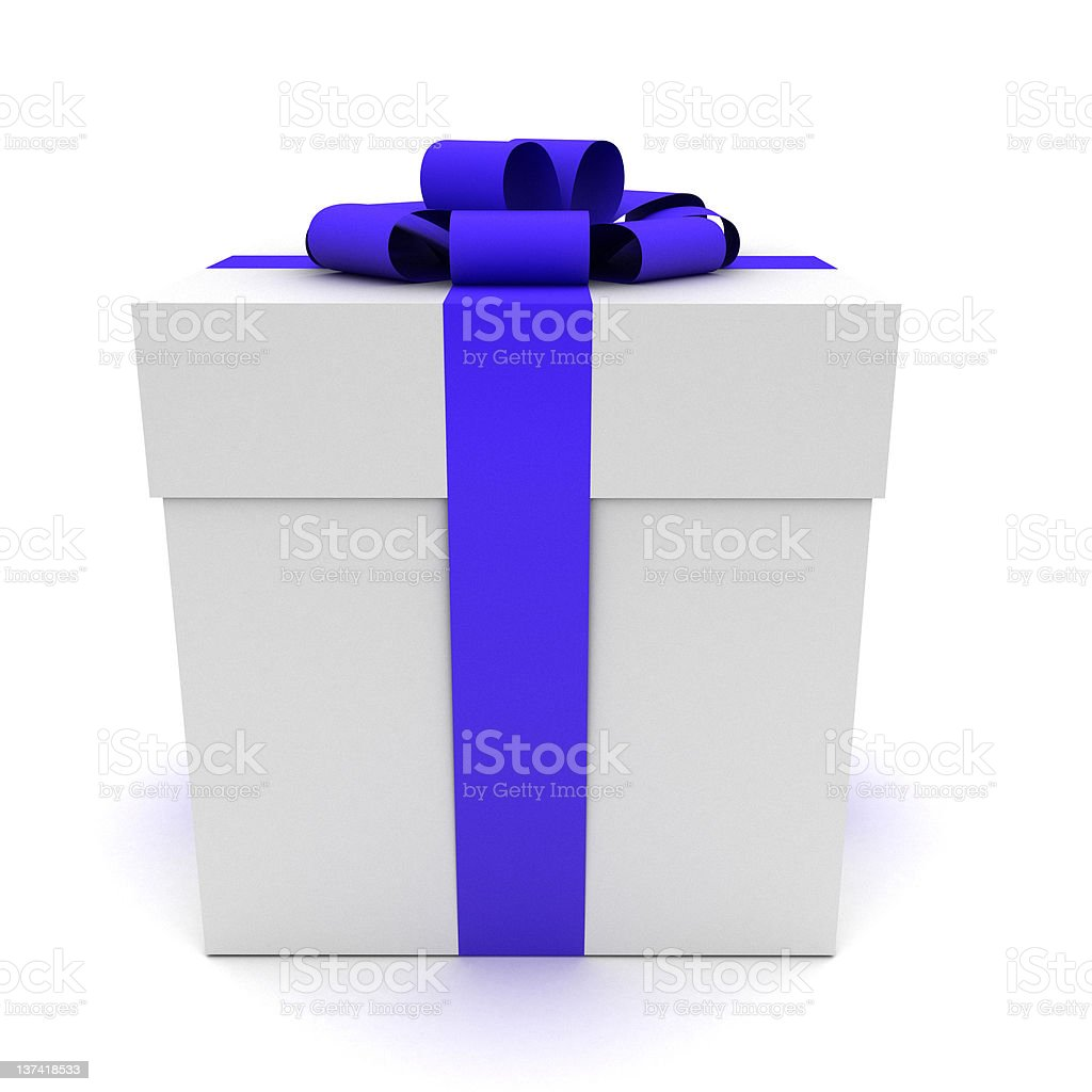3d gift isolated on white. royalty-free stock photo