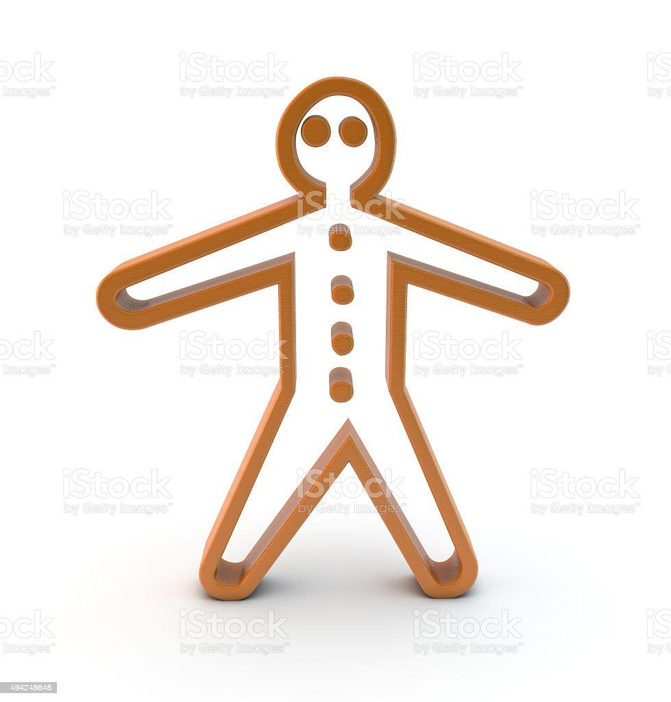 3d gingerbread man symbol stock photo