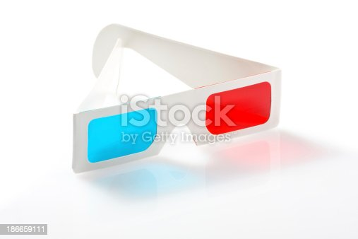 507793335 istock photo 3d glasses on white background 186659111