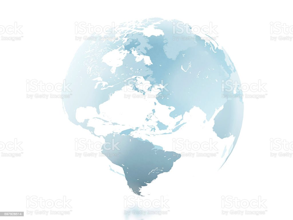 3d Globe against isolated white background. stock photo