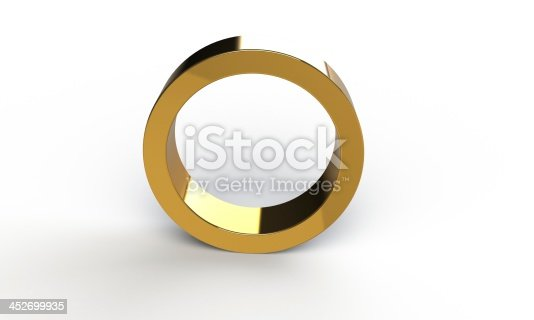 istock 3d gold ring frame structure isolated on white 452699935
