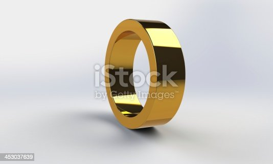 istock 3d gold ring frame structure isolated on white 453037639