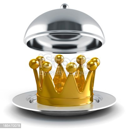 istock 3d golden crown on white background 185470078
