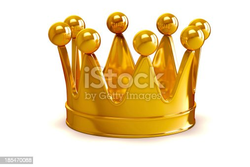 istock 3d golden crown on white background 185470088