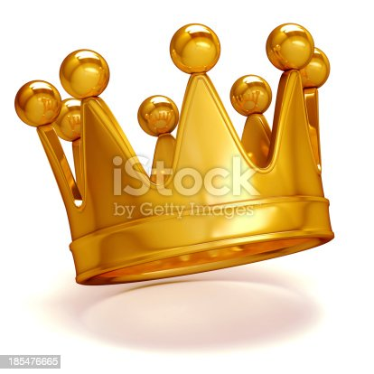 istock 3d golden crown on white background 185476665