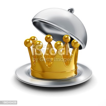 istock 3d golden crown on white background 186349406
