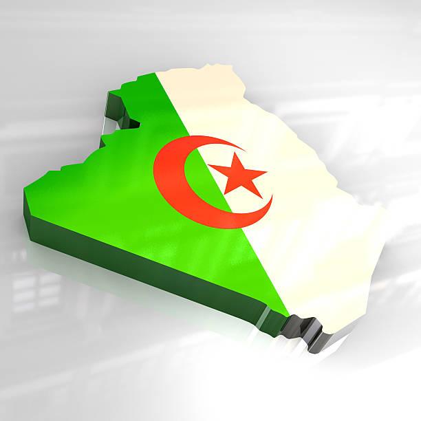3 d goldene Karte von Algerien – Foto
