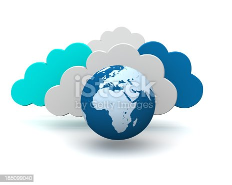 istock 3d graphic symbol of global cloud technology 185099040