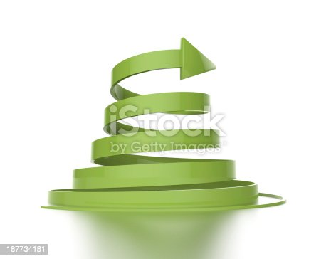 812823858istockphoto 3d green arrow 187734181