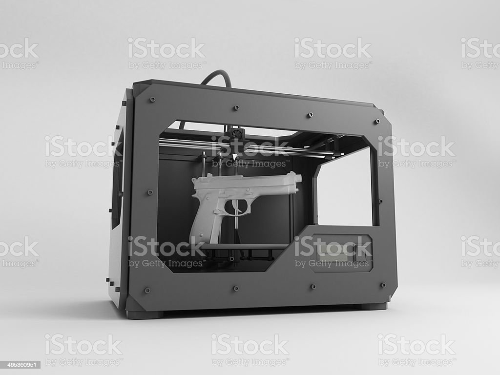 3d gun printer bildbanksfoto