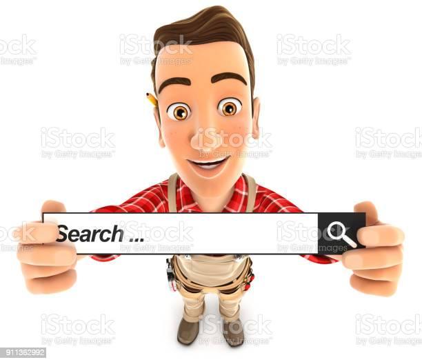 3d handyman holding a search bar picture id911362992?b=1&k=6&m=911362992&s=612x612&h=mxpdlut58hsap1jyascq3h b9b0drnfebvvbcxtkex0=