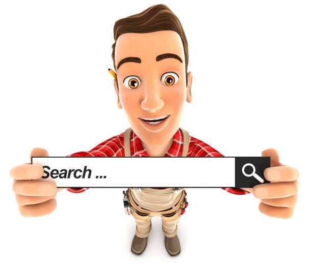 3d handyman holding a search bar picture id911362992?b=1&k=6&m=911362992&s=612x612&w=0&h=j7qtbzbfgiugocy dxnnnasxe9iimtukvj76i4o4 n0=