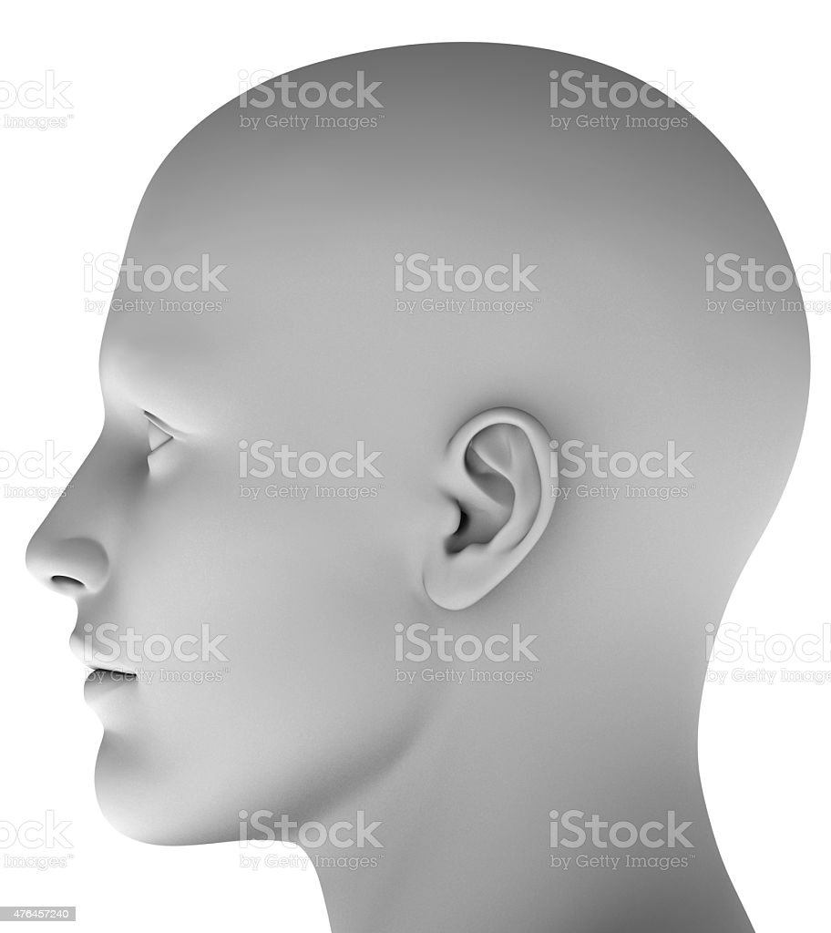 3d head isolated on white background hires ray traced stock photo