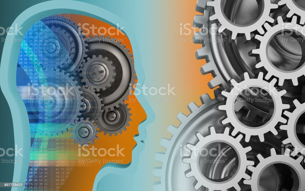3d head profile stock photo