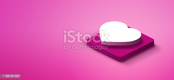 1155191162istockphoto 3d heart shape on pink abstract background 1155191207
