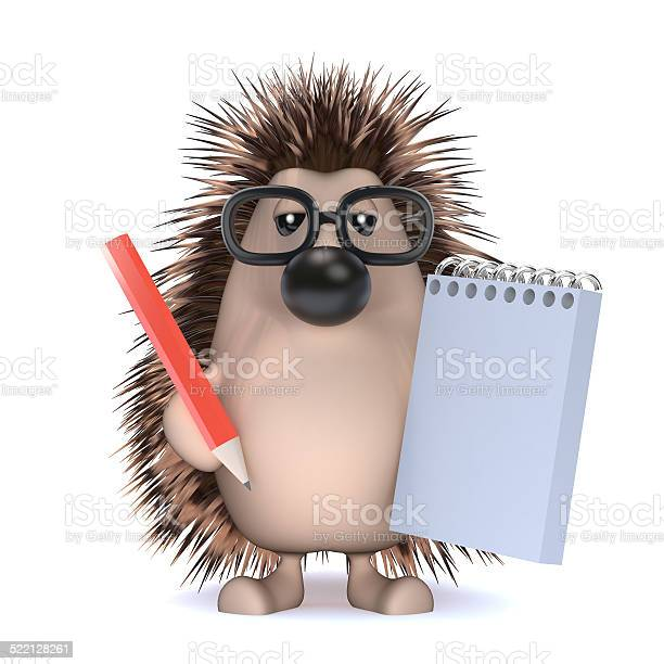 3d hedgehog takes notes at the meeting picture id522128261?b=1&k=6&m=522128261&s=612x612&h=cxn5wgeavfxubvm 276wk9l6xgn sy4q8qgvjm2mj3o=