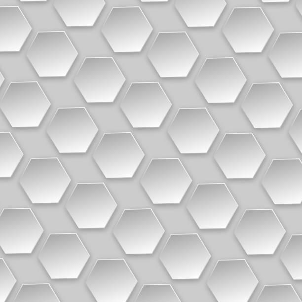 3d hexagon pattern texture illustration. stock photo