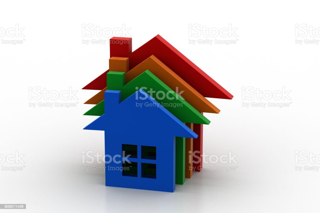 3d home model stock photo