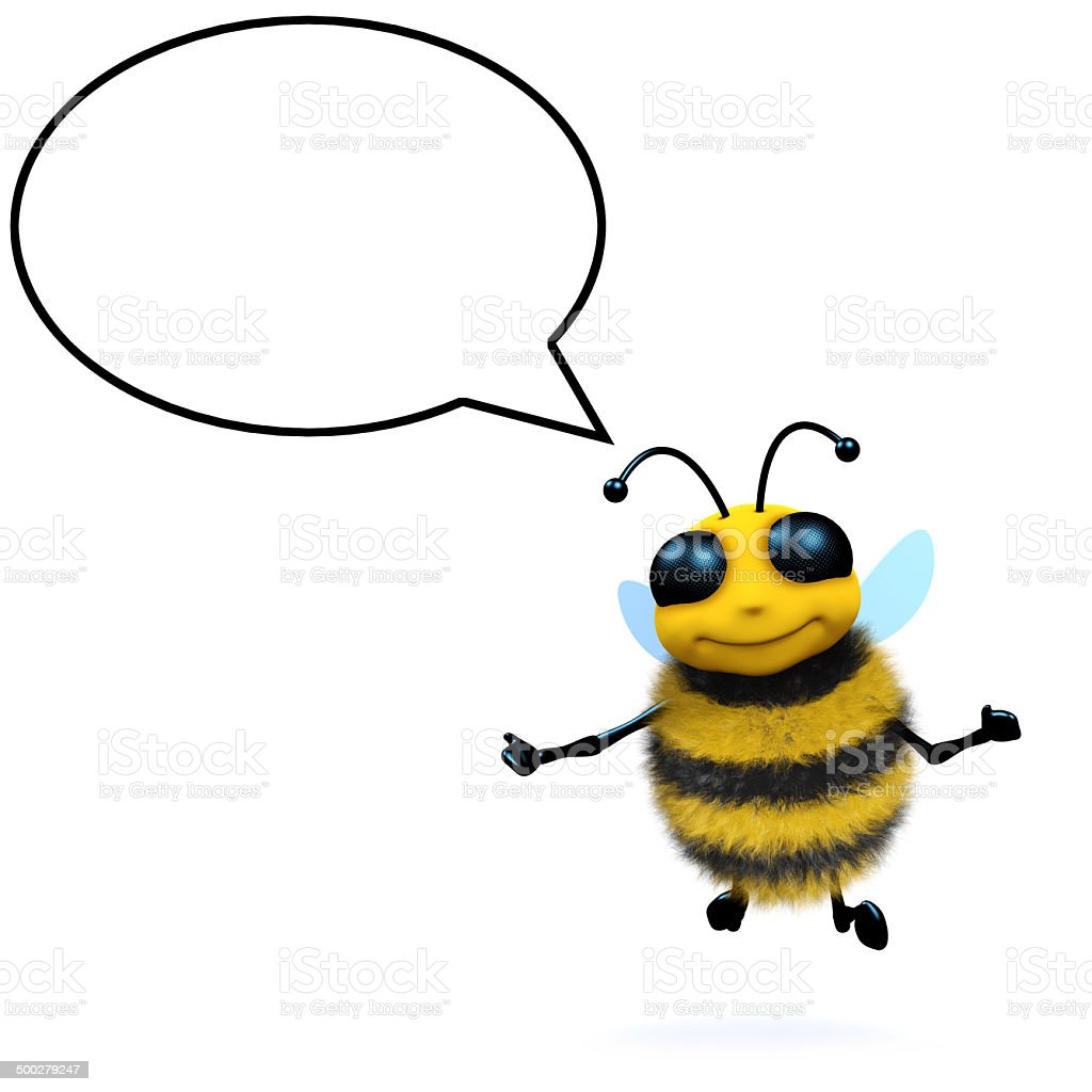 3d Honey bee talks stock photo