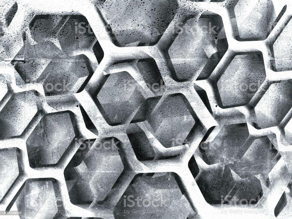 3d honeycomb ornamental background stock photo