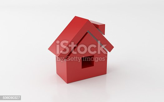 istock 3d house icon over white background 536090327