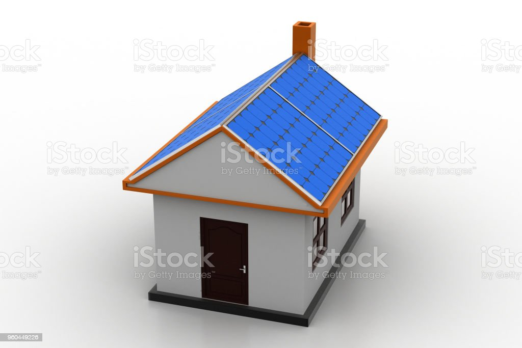 3d house model stock photo