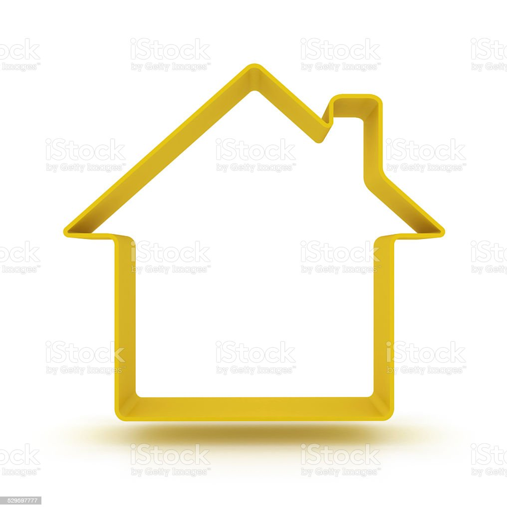 3d house silhouette stock photo