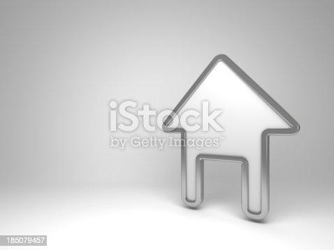 istock 3d house white symbol 185079457