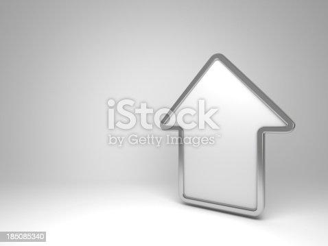 istock 3d house white symbol 185085340