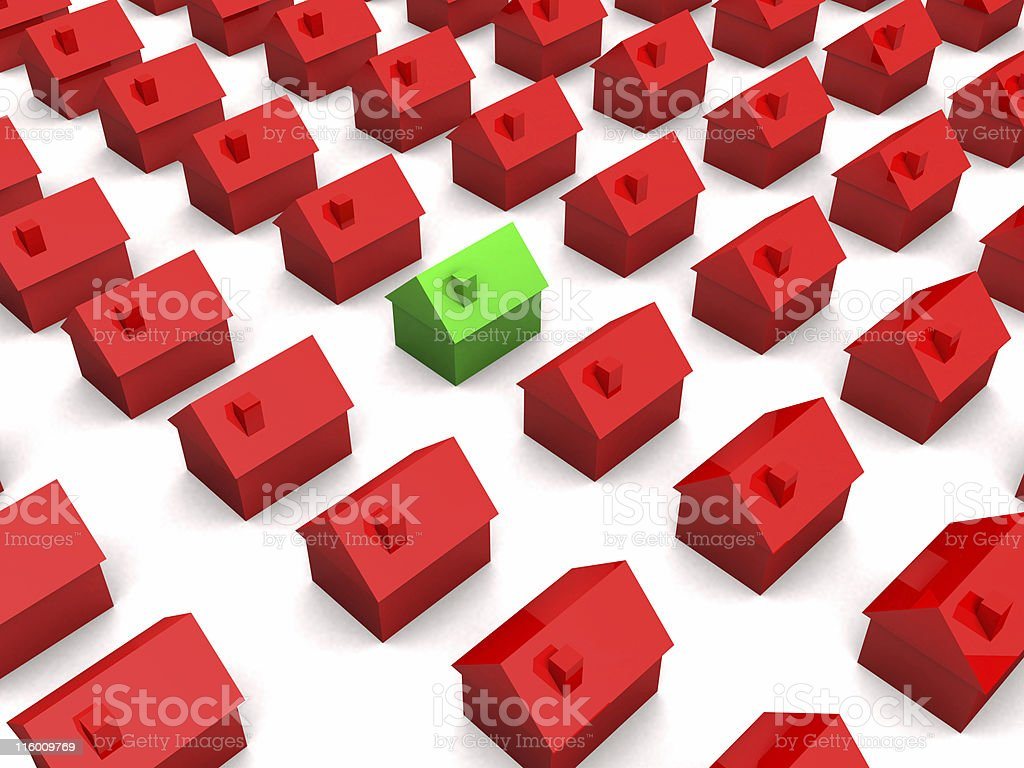 3d houses royalty-free stock photo