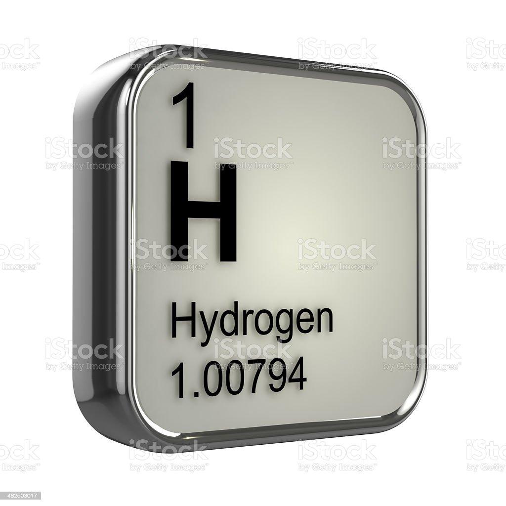 3d Hydrogen element stock photo
