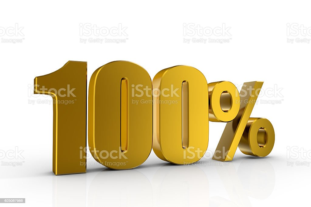 3d illustration 100% stock photo
