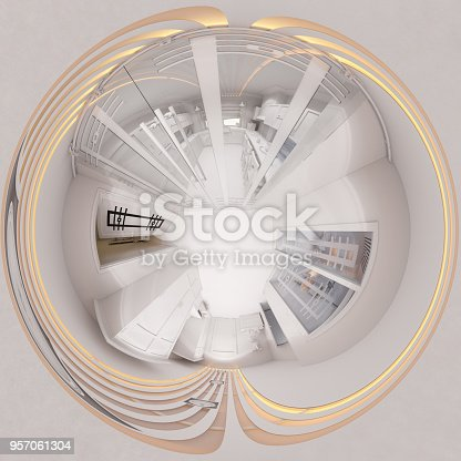 938518926istockphoto 3d illustration 360 degree panorama hall interior design 957061304