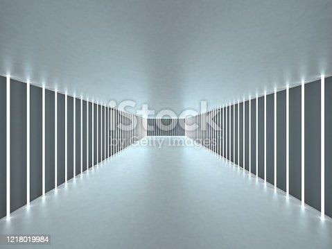 949309726 istock photo 3d illustration abstract tunnel 1218019984