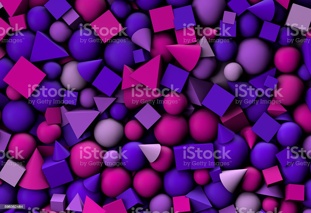 3d illustration background with color geometric shapes royalty-free stock photo