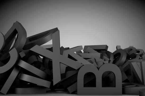 3d illustration schwarze buchstaben textur hintergrund - definition krankheit stock-fotos und bilder