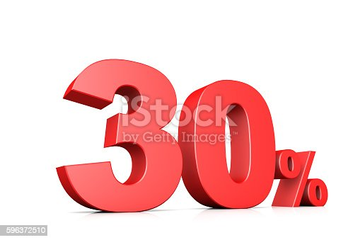 istock 3d illustration business numbe30 percent 596372510