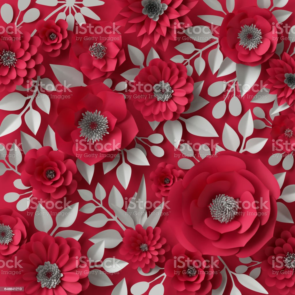 3d illustration decorative red paper flowers background stock photo 3d illustration decorative red paper flowers background royalty free stock photo mightylinksfo