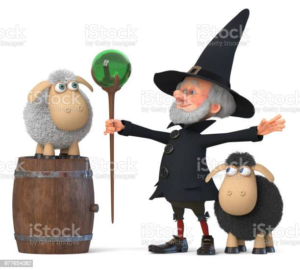 3d illustration funny fairy wizard with sheep picture id977654082?b=1&k=6&m=977654082&s=612x612&h=cnvt0hirpdxedk yagg8remoz9e6lbkdjetyucfsjbs=