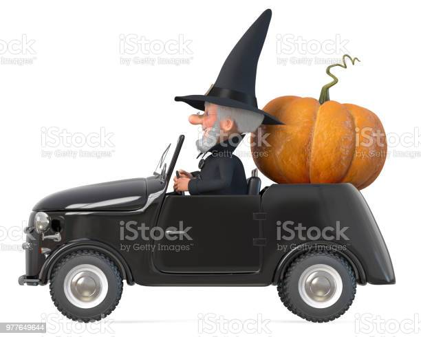 3d illustration funny fairytale wizard with a hat on his car picture id977649644?b=1&k=6&m=977649644&s=612x612&h=wnlai55plzzbg2ljujurz5eaejyg 8abpeymbnvnuq4=