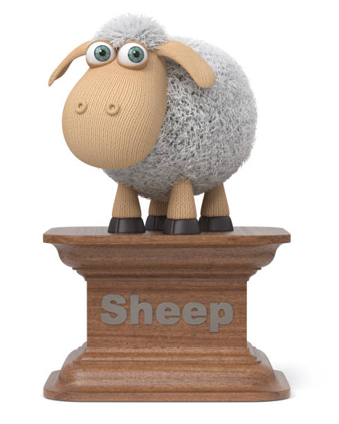 ovejas gracioso de 3d ilustración - sequence animation fotografías e imágenes de stock