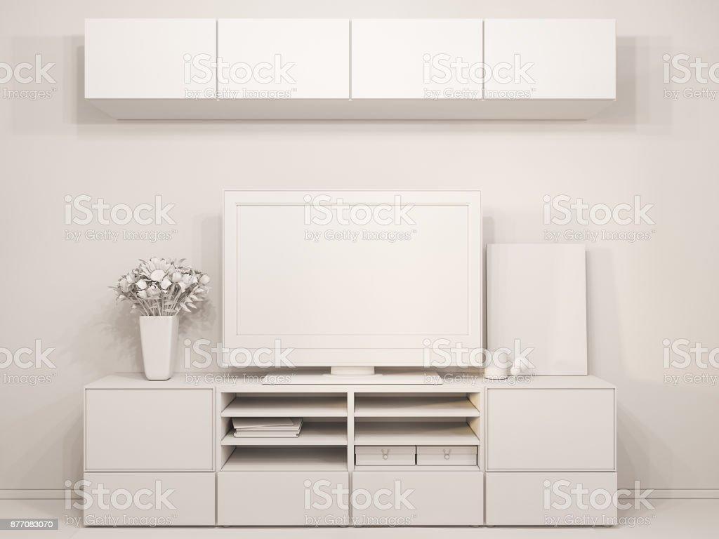 Design De Interiores De Sala De Ilustra O 3d Moderno Apartamento De