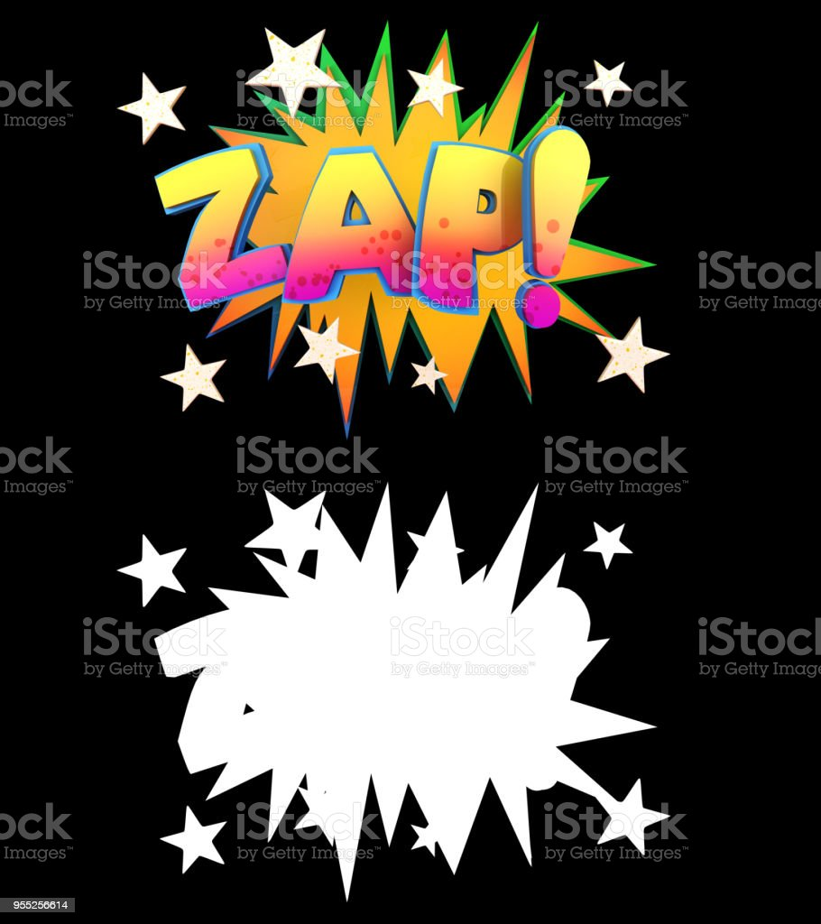 3d illustration Of a Cartoon onomatopoeia Comic Book Style With Alpha stock photo