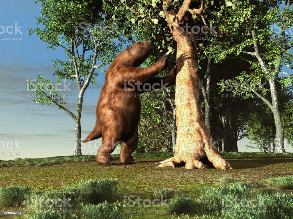 3D Darstellung der ein Riesen Faultier – Foto