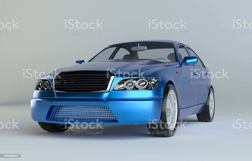 3d illustration of a luxury sports car stock photo