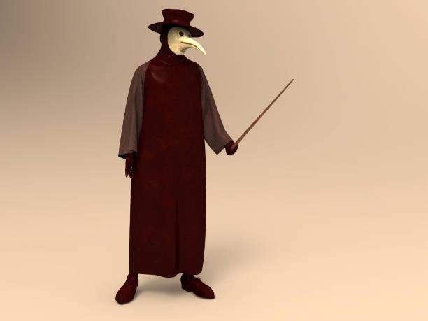 3D Darstellung der Pest Arzt – Foto