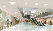 3d illustration of a shopping mall