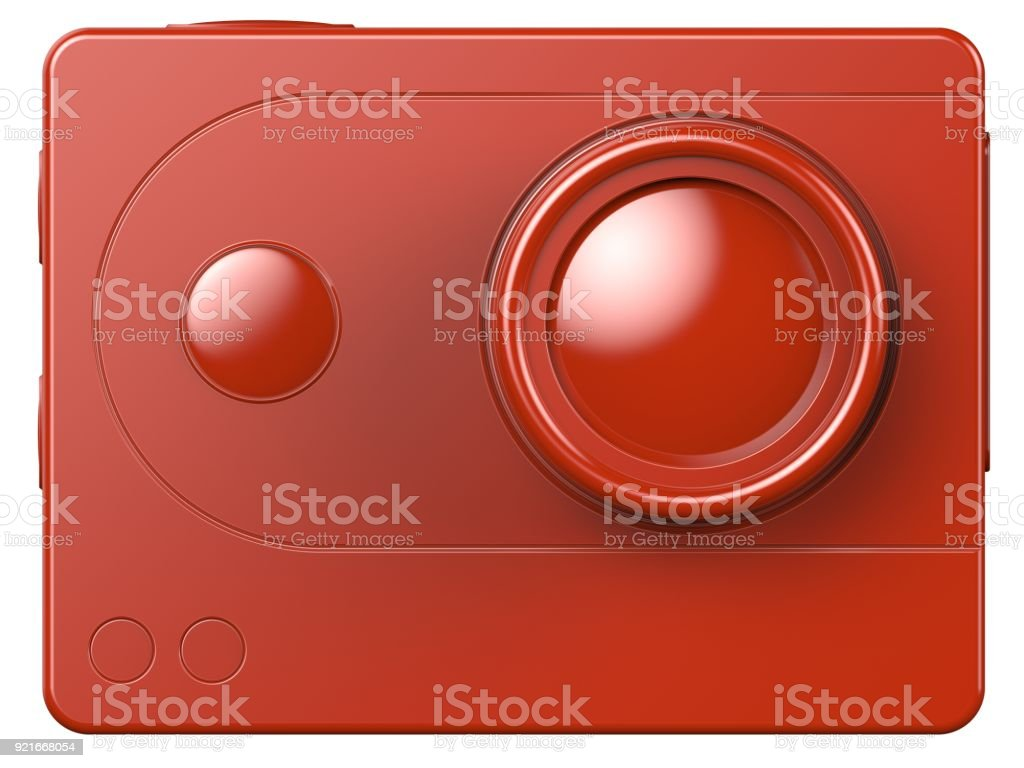 3d illustration of action camera stock photo