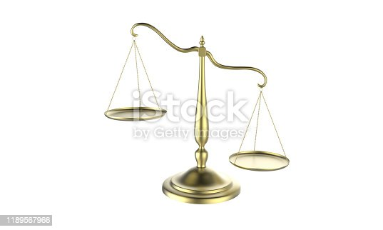 istock 3d illustration of balance scale tipping to one side isolated on a white background 1189567966