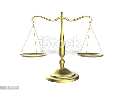 istock 3d illustration of balance scale tipping to one side isolated on a white background 1189568020